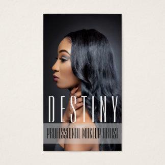 Beauty MakeUp Artist Cosmetology Hair Salon Business Card