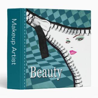 Beauty Makeup Fashion Zipper Portfolio 3 Ring Binder