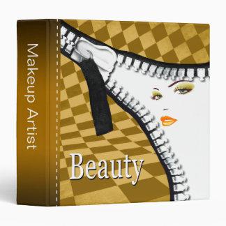 Beauty Makeup Fashion Zipper Portfolio Binder