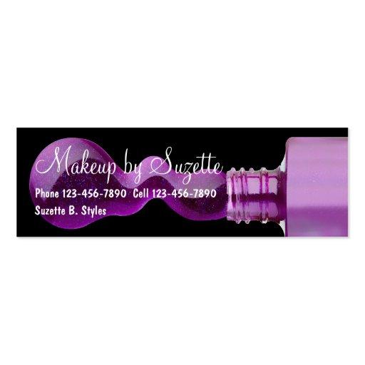 beauty makeup mini business cards zazzle. Black Bedroom Furniture Sets. Home Design Ideas