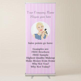 Beauty, Makeup Sells, or Salon Retractable Banner