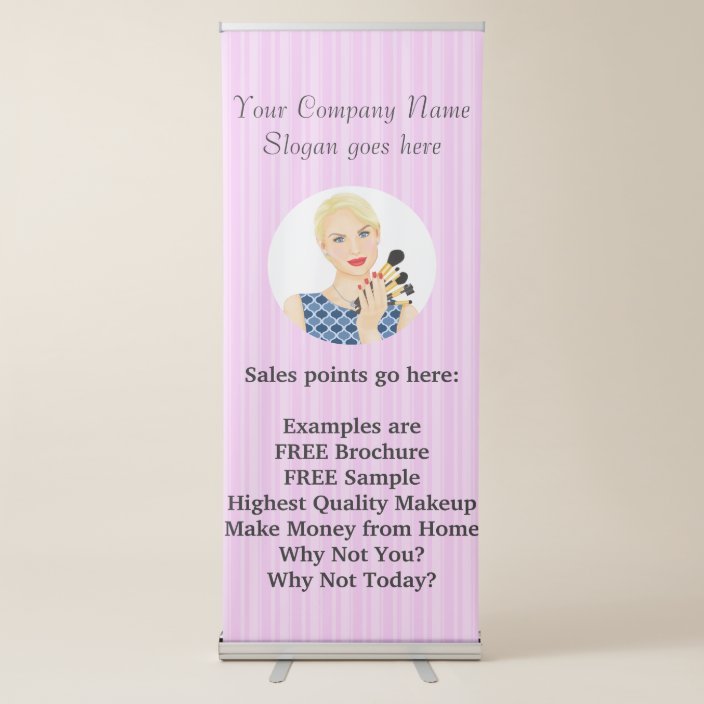 Beauty Makeup Sells Or Salon Retractable Banner Zazzle Com
