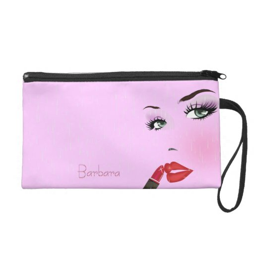 Beauty MakeUp Woman Wristlet Cosmetic Bag