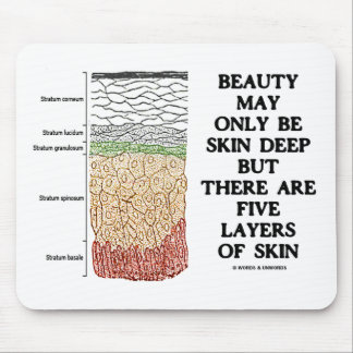Beauty May Be Skin Deep But Five Layers Of Skin Mouse Pad