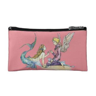 Beauty Mermaid meets Prince Angel Cosmetic Bag