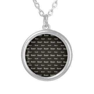 Beauty Moments Phrase Pattern Silver Plated Necklace