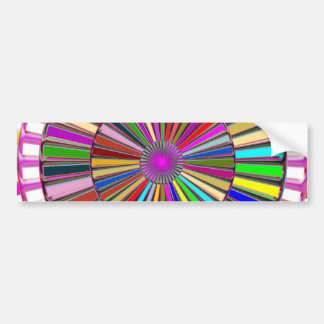 BEAUTY : Moving Wheel Chakra with ENERGY Bumper Sticker