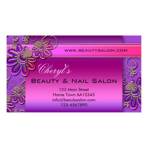 Beauty & Nail Salon Appointment Business Card