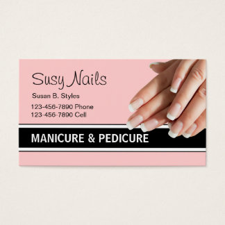 Nail Tech Business Cards & Templates | Zazzle