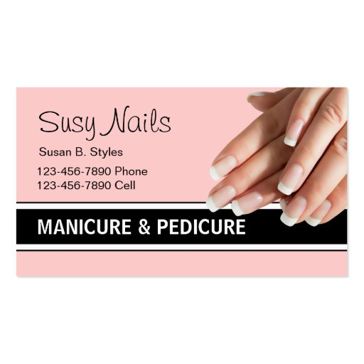 Nails business card templates page4 bizcardstudio beauty nails business cards colourmoves Image collections