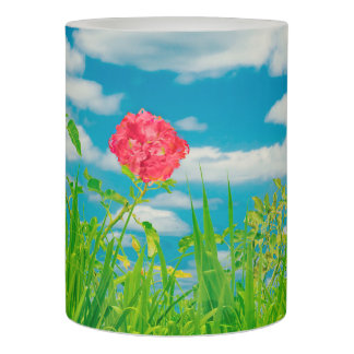 Beauty Nature Scene Photo Flameless Candle