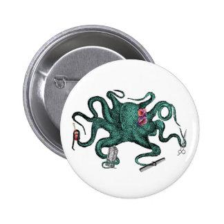 Beauty Octopus Button