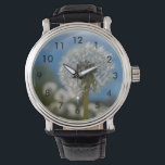 """Beauty Of A Dandelion Wristwatch<br><div class=""""desc"""">Even though they are usually unwanted weeds in a yard, they are beautifully designed. Looking for more prints or products? Feel free to visit my store: http://www.zazzle.com/timelessmomentsphtgy This photo was taken by Jennifer White with Timeless Moments Photography. All images are copyrighted &#169; Timeless Moments Photography/Jennifer White. All rights reserved. Copying...</div>"""