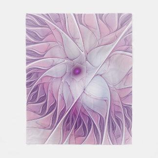 Beauty of a Flower, Abstract Fractal Art Fleece Blanket