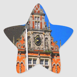 Beauty of Ancient Time Harburg city hall Star Sticker