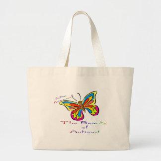 beauty of autism canvas bag
