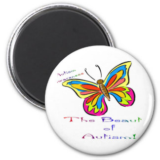 beauty of autism 2 inch round magnet