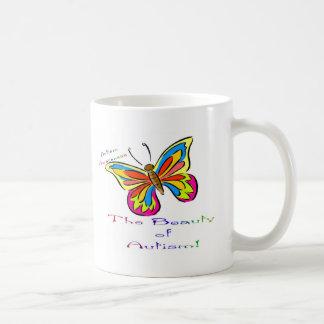 beauty of autism classic white coffee mug