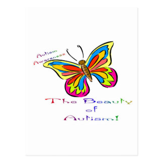 beauty of autism postcard