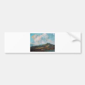 Beauty of cloud through a oil painting bumper sticker