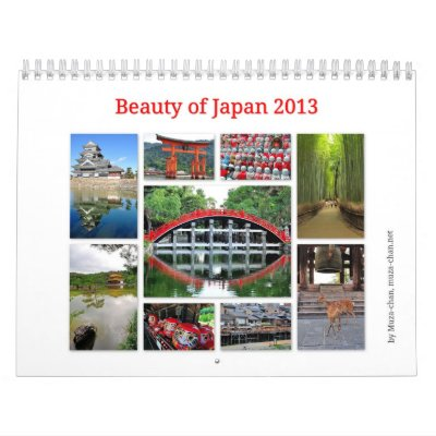 Beauty of Japan 2013 Calendars