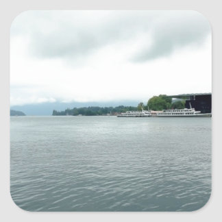 Beauty of Lake Lucerne Square Sticker