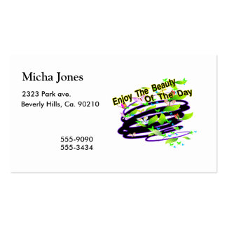 Beauty Of The Day Butterflies Double-Sided Standard Business Cards (Pack Of 100)