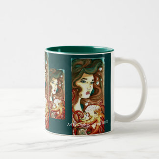 Beauty of the Deep By Chelsea Spring Two-Tone Coffee Mug
