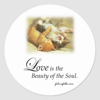 Beauty of the Soul Classic Round Sticker