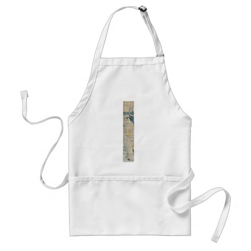 Beauty on the bank(Sumida River)by Hosoda,Eishi Aprons
