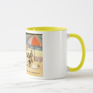 Beauty on the Beach, Highlands, New Jersey Vintage Mug