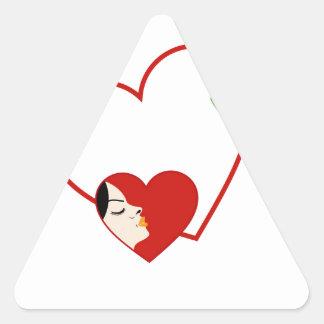 beauty or alternative medicine for ladies triangle sticker