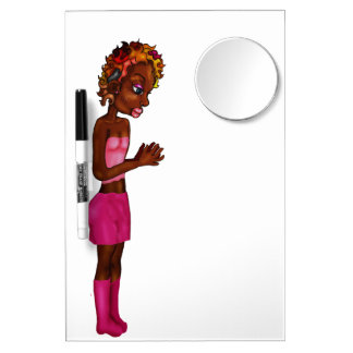Beauty pad laprye dry erase board with mirror