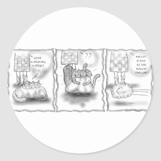Beauty Parlor Round Stickers