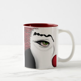 Beauty Peeking Two-Tone Coffee Mug