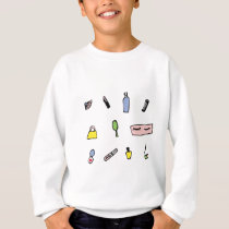 Beauty Product Pattern Sweatshirt