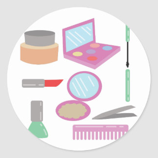 Beauty Products Classic Round Sticker
