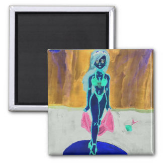 beauty queen 2 inch square magnet