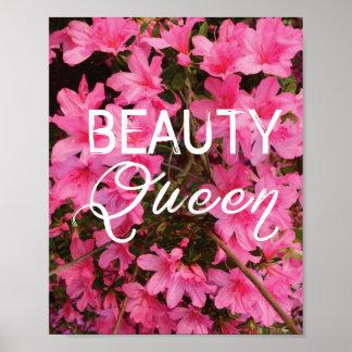 Beauty Queen Typography Print