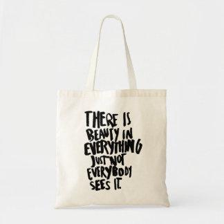 Beauty Quote Tote Bag Shoulder Bag Shopping Bag