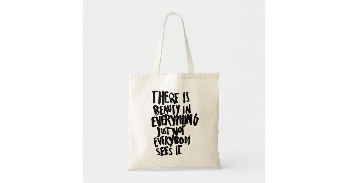 Beauty Quote Tote Bag Shoulder Bag Shopping Bag Zazzle