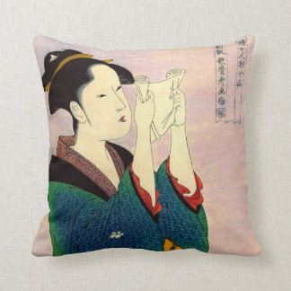 Beauty Reading Letter 1780 Throw Pillows