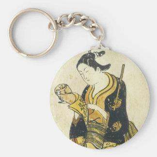 Beauty Reading Letter Torii School 1730 Art Prints Basic Round Button Keychain