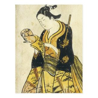 Beauty Reading Letter Torii School 1730 Art Prints Postcard