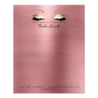 Beauty Red Bean Lashes Makeup Esthetician Eyebrows Flyer