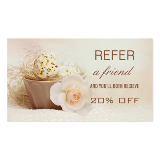 Beauty Referral Tell A Friend Business Card