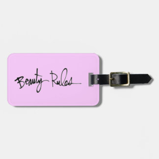 BEAUTY RULE CONFIDENCE QUOTES ATTITUDE MOTTO CHEEK TRAVEL BAG TAGS