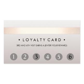 Beauty Salon 6 Punch Customer Loyalty Card