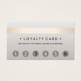 Beauty Salon 6 Punch Customer Loyalty Card