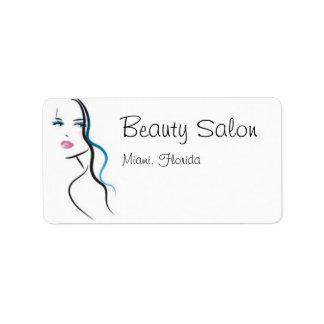 Beauty Salon Address Label